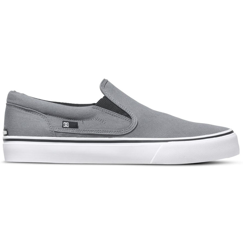 DC Trase Slip-On - Grey GRY - Men's Skateboard Shoes