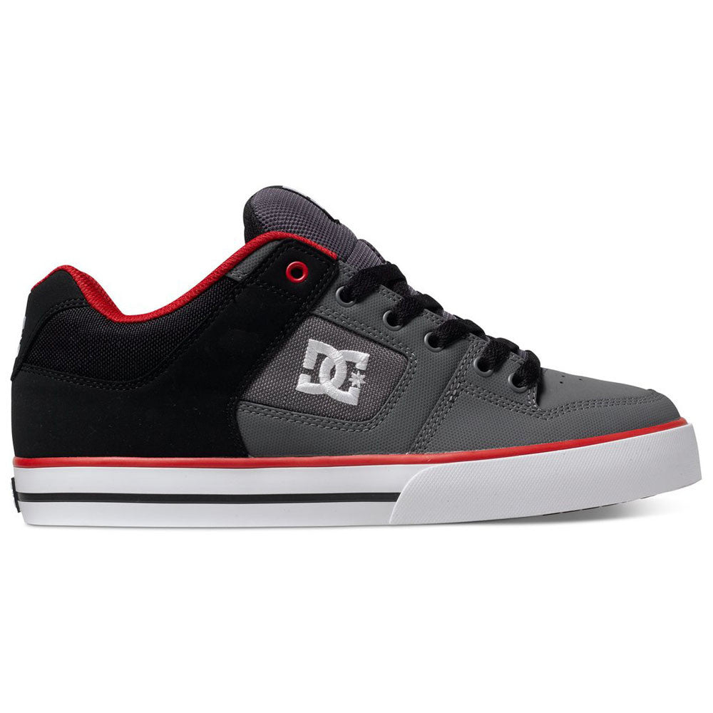 DC Pure - Black/Red/Grey BYR - Men's Skateboard Shoes