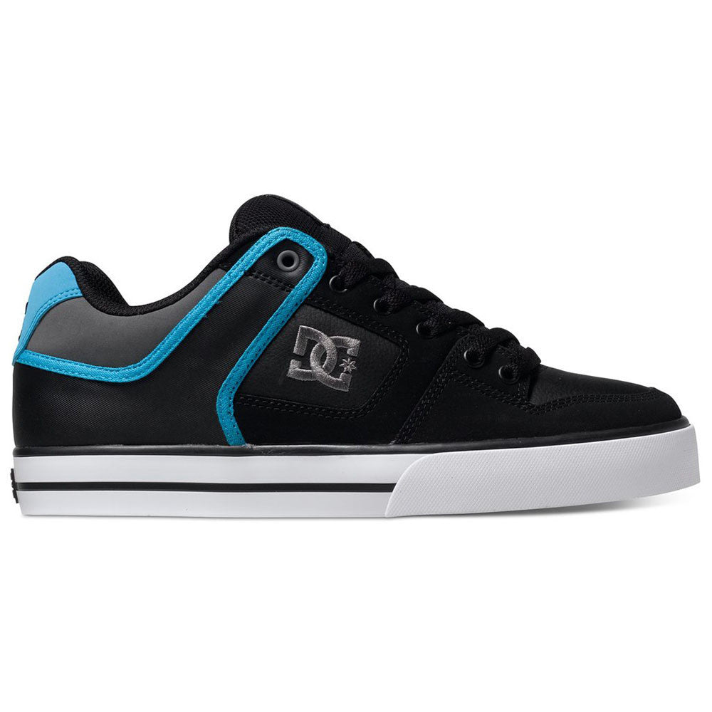 DC Pure - Black/Grey/Blue XKSB - Men's Skateboard Shoes