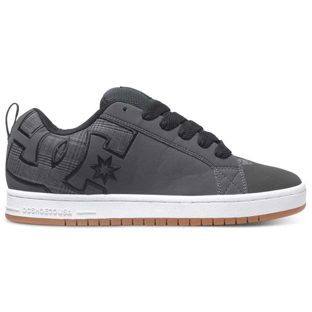 DC Court Graffik SE - Grey w/ Black GYB - Men's Skateboard Shoes