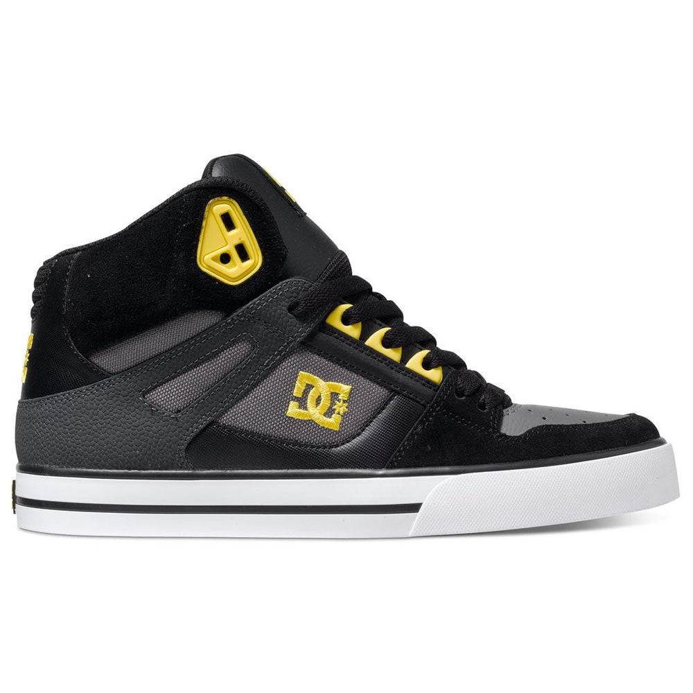 DC Spartan High WC - Black/Yellow BY0 - Men's Skateboard Shoes