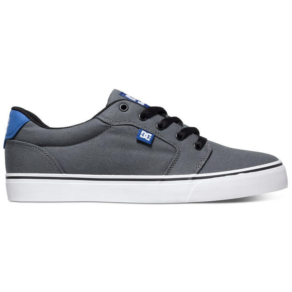 DC Anvil TX - Grey/Grey/Blue XSSB - Men's Skateboard Shoes