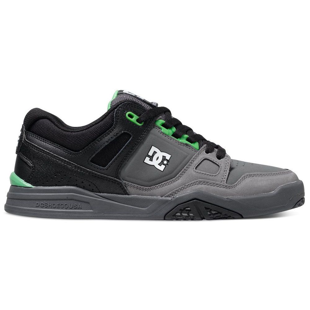 DC Stag 2 - Black/Dark Shadow/Green BDG - Men's Skateboard Shoes