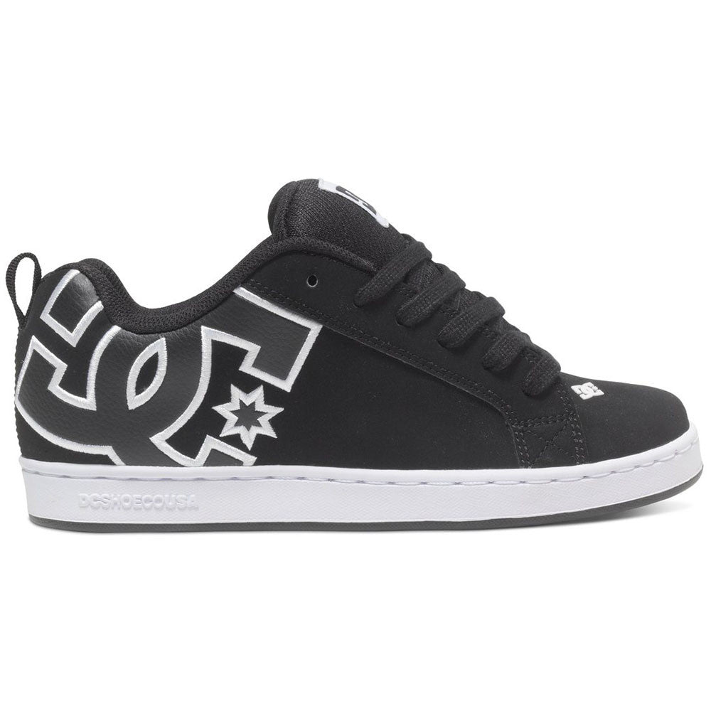 DC Court Graffik - Black/Black/White XKKW - Women's Skateboard Shoes