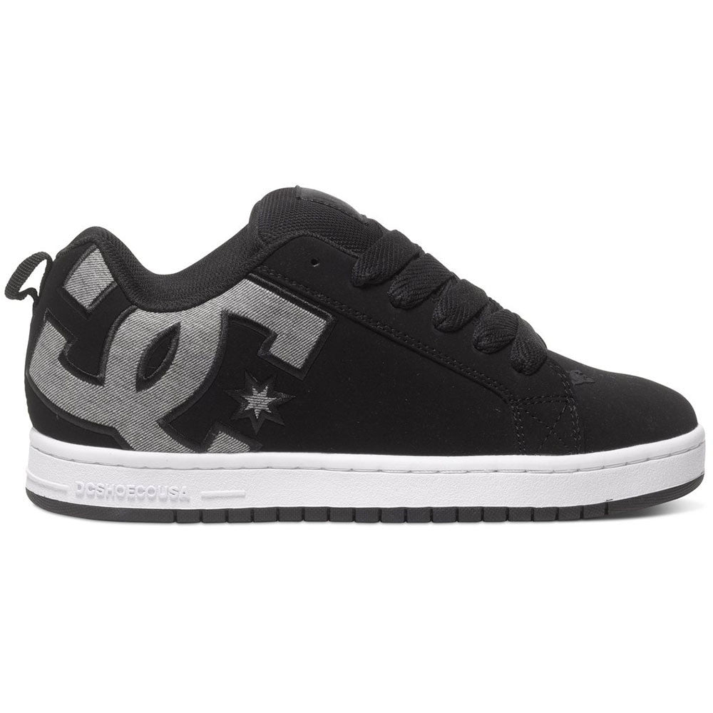 DC Court Graffik S - Black Dark Used BKZ - Men's Skateboard Shoes