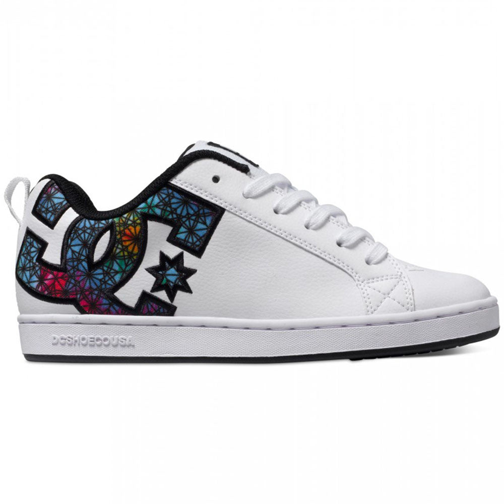 DC Court Graffik S - White Geo WGO - Women's Skateboard Shoes