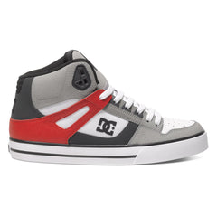 DC Spartan High WC - Grey/Red/White XSRW - Men's Skateboard Shoes