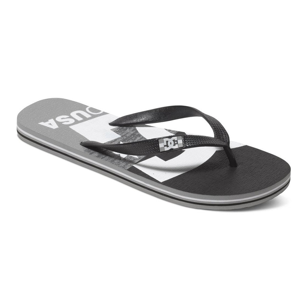 DC Spray Graffik - Grey/Black/Grey GBG - Men's Sandals