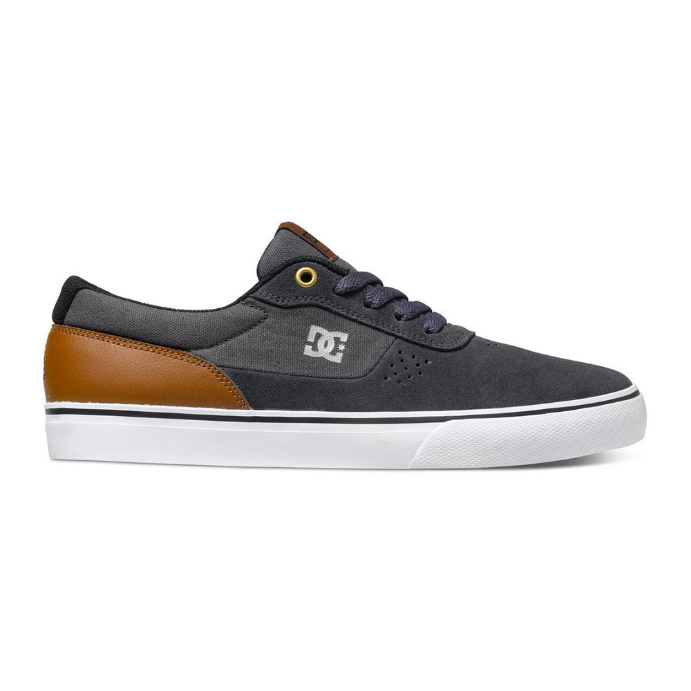 DC Switch S - Silver SIL - Men's Skateboard Shoes