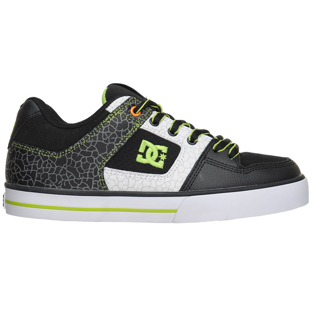 DC Block Pure - Black/Soft Lime/Citrus (LSC) - Men's Skateboard Shoes