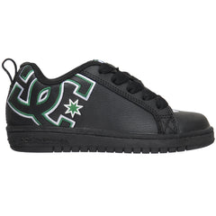 DC Court Graffik Youth - Black/Green (BGN) - Men's Skateboard Shoes
