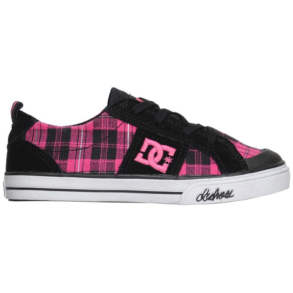 DC Fiona Youth - Black/Crazy Pink (BZP) - Men's Skateboard Shoes