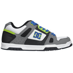 DC Stag - Armor/White/Soft Lime (RWL) - Men's Skateboard Shoes