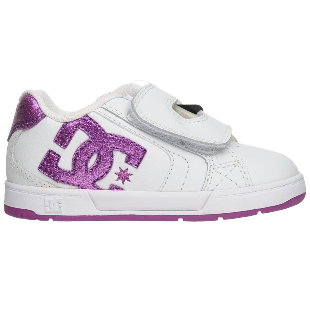 DC Toddler's Net V - White/Orchid (WOD) - Men's Skateboard Shoes
