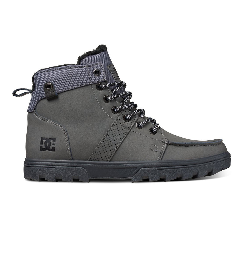 DC Woodland - Grey (GRY) - Men's Skateboard Shoes