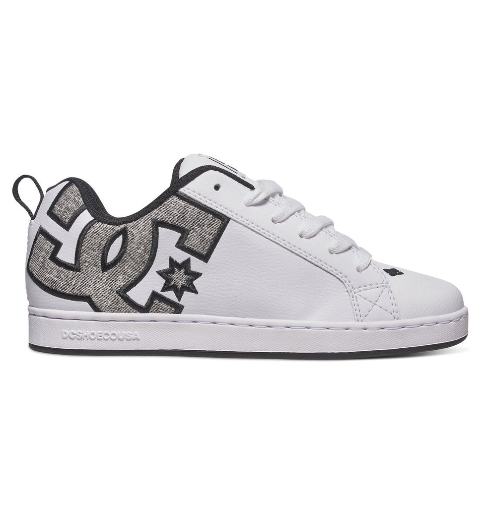 DC Court Graffik SE - White/Charcoal (WC5) - Women's Skateboard Shoes