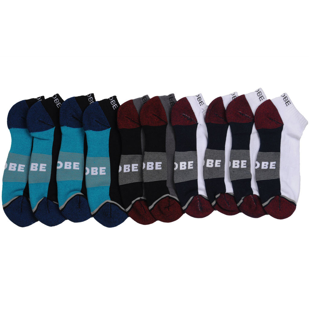 Globe Evan Ankle Sport 5 Pack - White/Navy/Black - Men's Socks (5 Pairs)