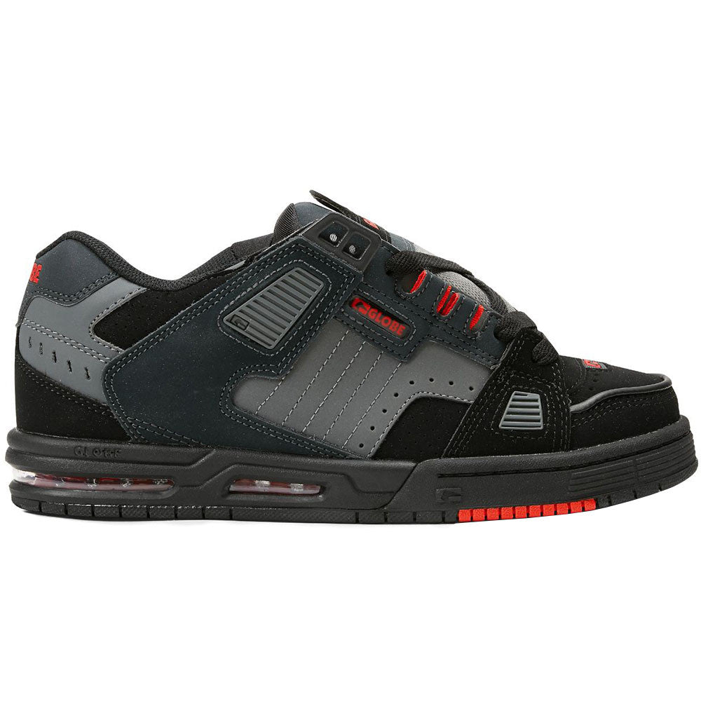 Globe Sabre - Black/Red/Charcoal - Skateboard Shoes