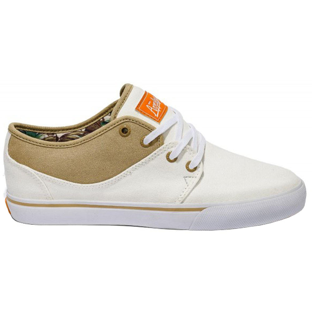 Globe Mahalo - Pristine White/Jungle - Skateboard Shoes