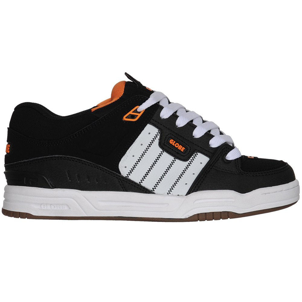 Globe Fusion - Black/White/Orange - Skateboard Shoes