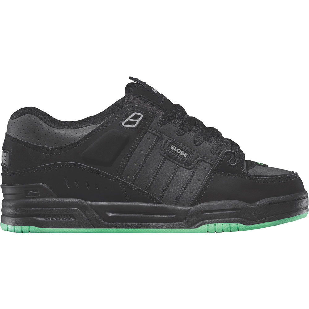 Globe Fusion - Black/Black/Green - Skateboard Shoes