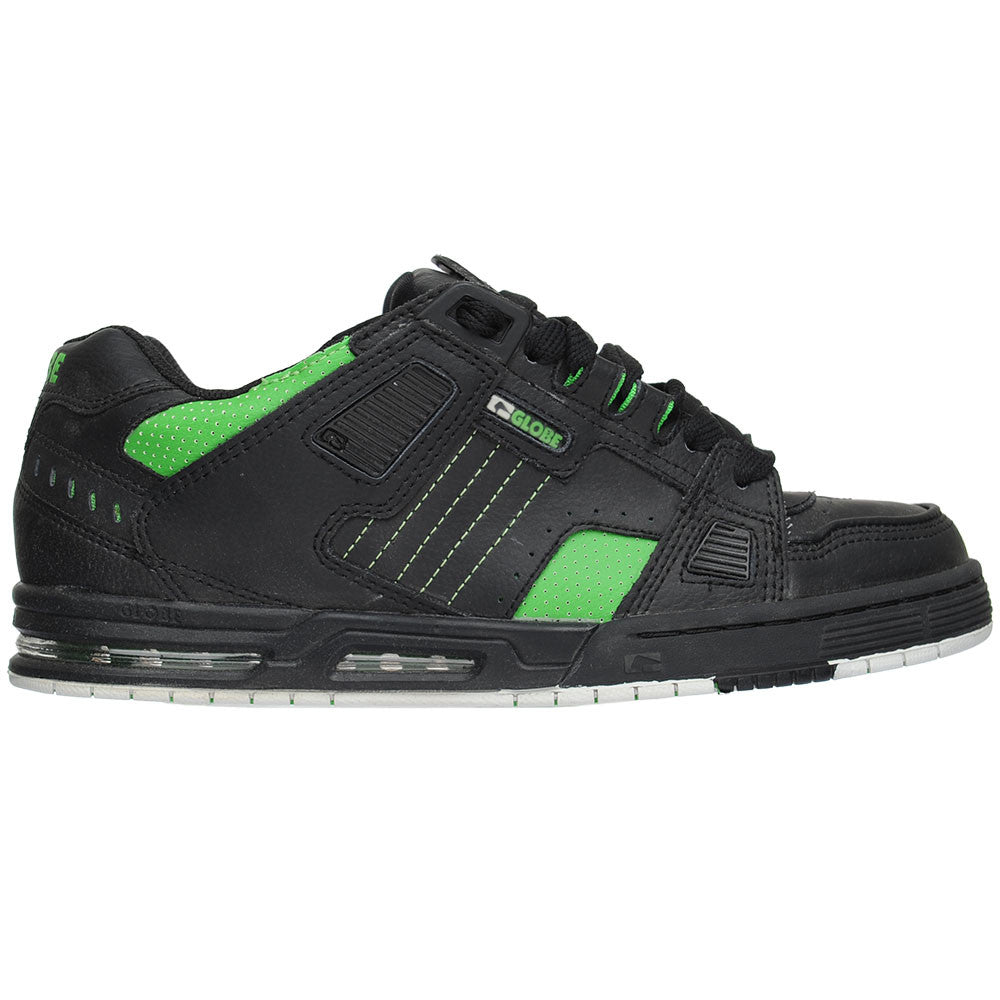 Globe Sabre - Black/Moto Green  - Men's Skateboard Shoes