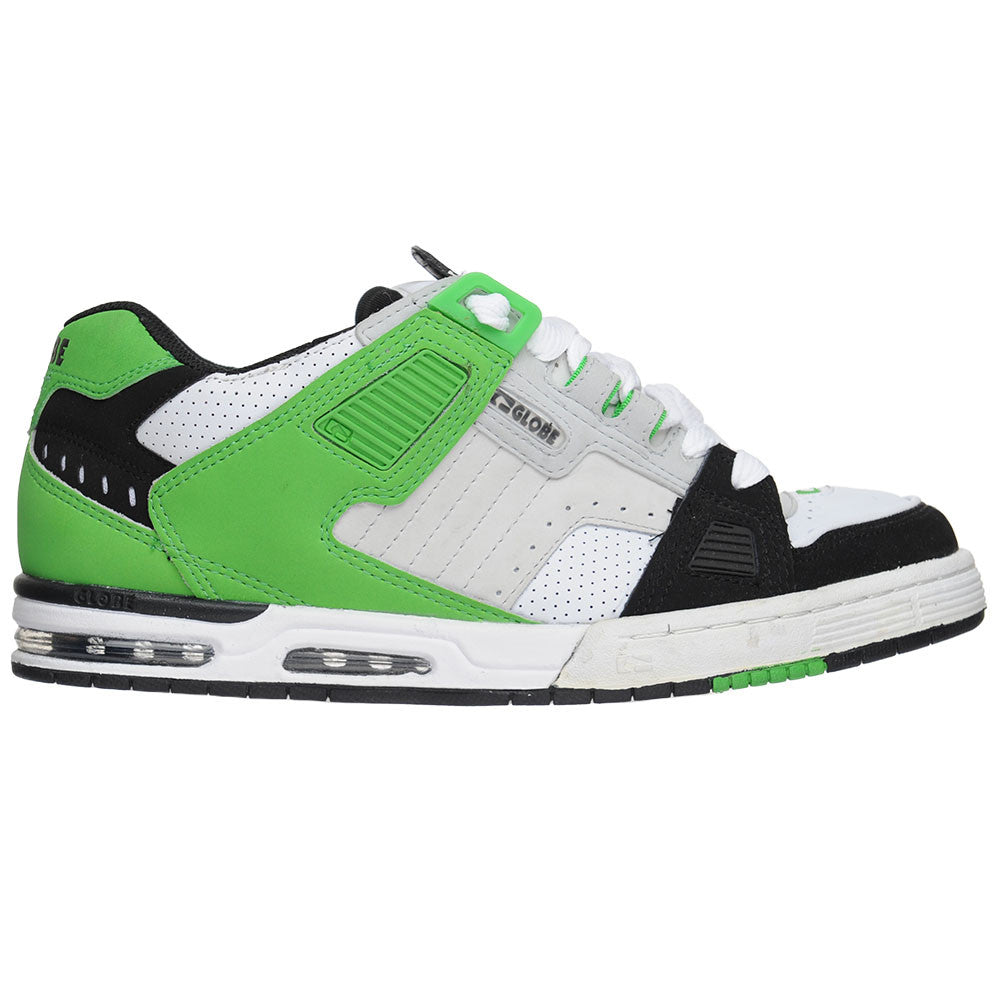 Globe Sabre - Moto Green/Black/Grey - Men's Skateboard Shoes