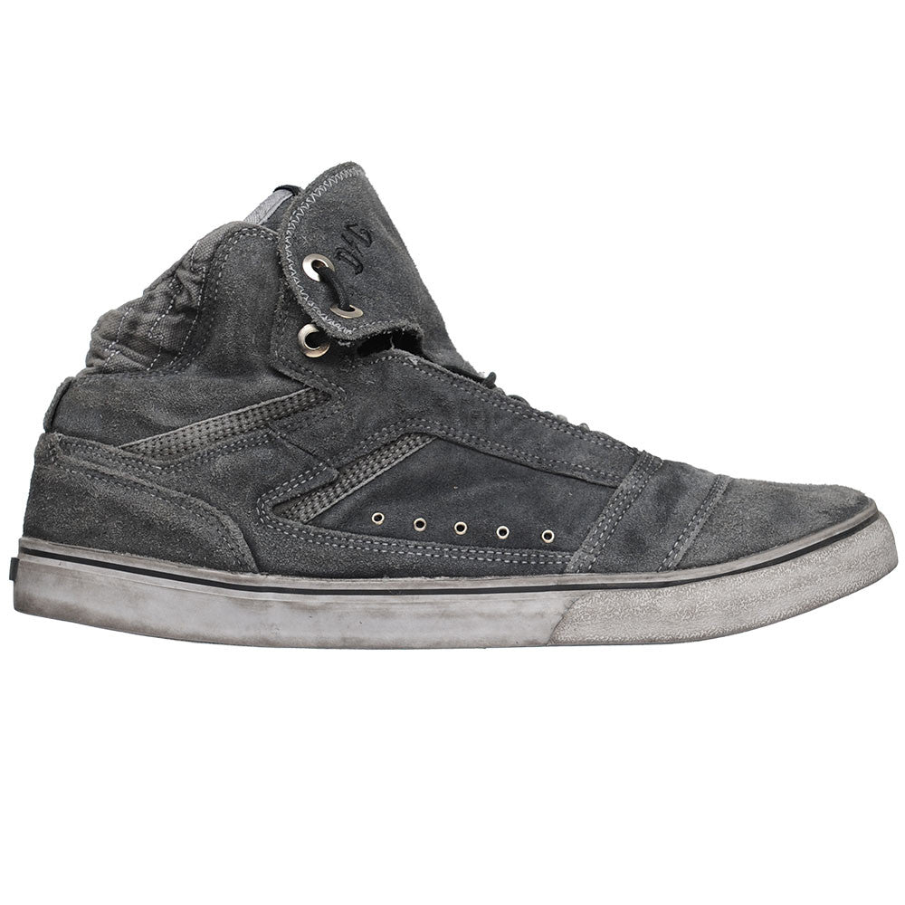 Globe The Heathen Hi - Black R2R Wash - Men's Skateboard Shoes