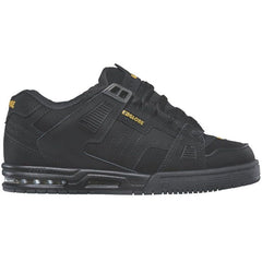 Globe Sabre - Black/Black/Yellow - Skateboard Shoes