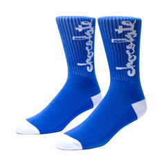 Chocolate Chunk - Blue - Men's Socks (1 Pair)