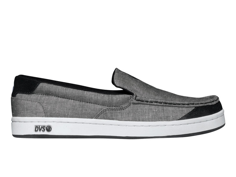 DVS Loma - Black Chambray 002 - Skateboard Shoes