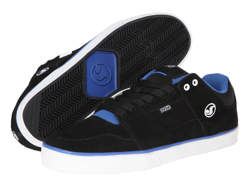 DVS Evade - Black/Royal Suede 001 - Skateboard Shoes