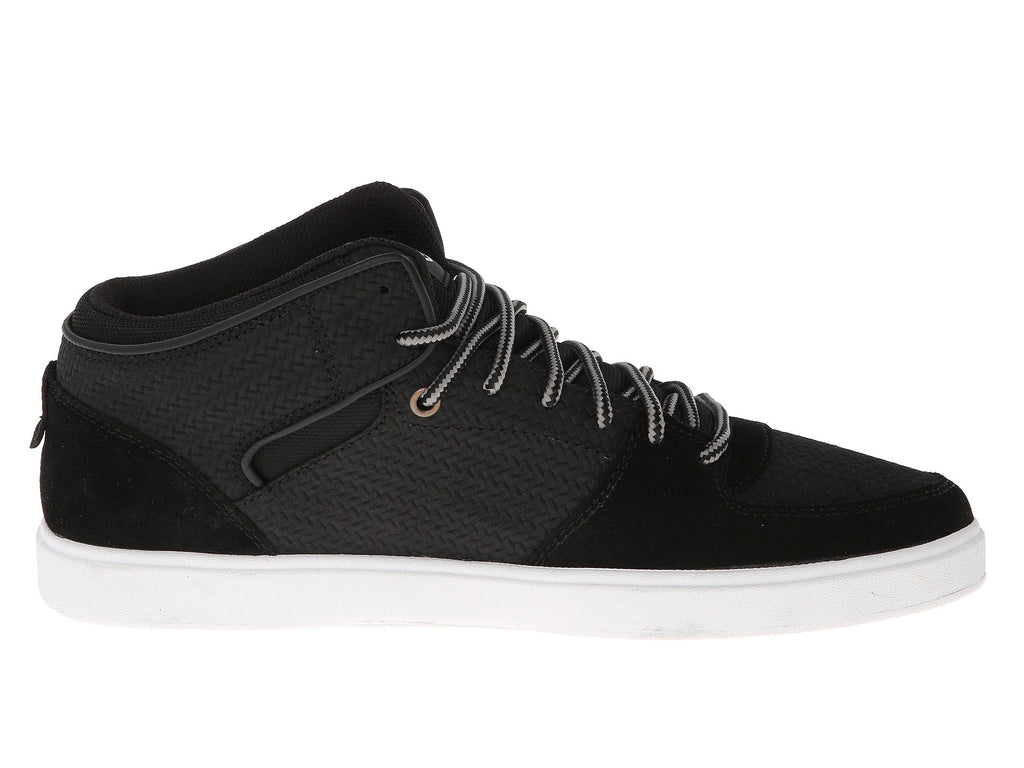 DVS Torey VPR Mid Top - Black Weave Suede 001 - Skateboard Shoes