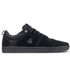 DVS Nica - Black/Black/White Suede 005 - Skateboard Shoes