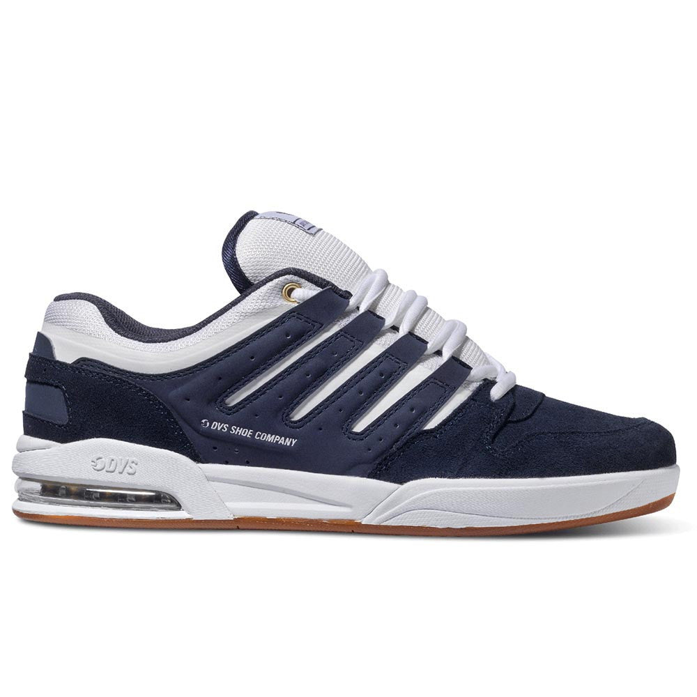 DVS Tycho - Navy/White/Gum Suede 400 - Skateboard Shoes