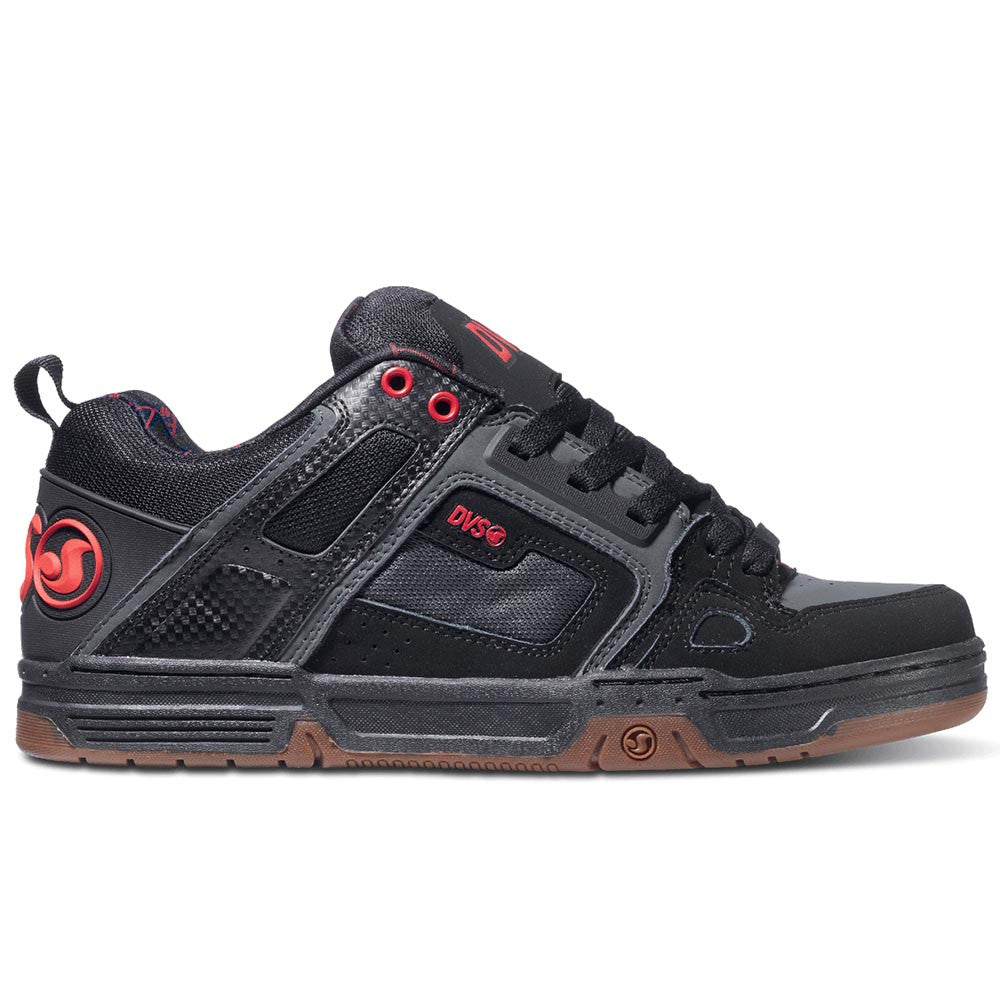 DVS Comanche - Black/Grey/Black Trubuck Deegan 019 - Skateboard Shoes