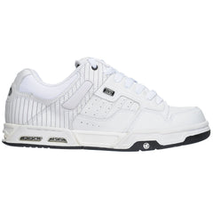 DVS Enduro Heir - White Leather Pin - Men's Skateboard Shoes