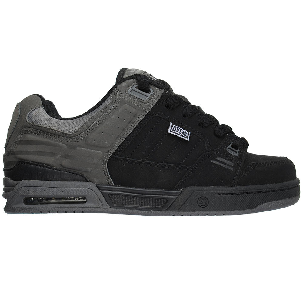 DVS Squadron - Grey/Black Nubuck  - Men's Skateboard Shoes