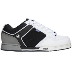 DVS Transom - White/Black Leather  - Men's Skateboard Shoes