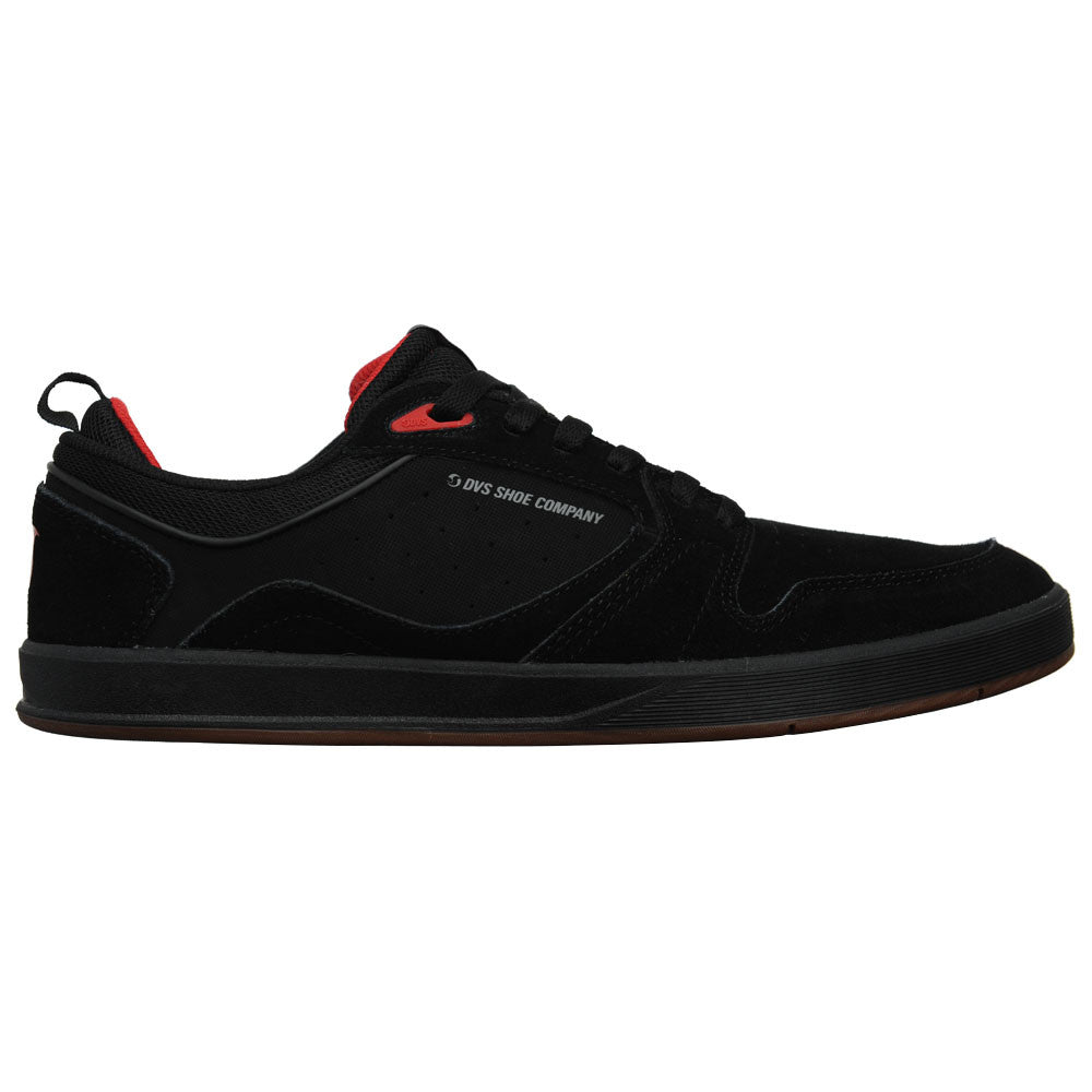 DVS Ignition SC - Black/Gum/Red 002 - Men's Skateboard Shoes