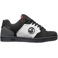 DVS Discord - Black/White/Red Nubuck 010 - Men's Skateboard Shoes