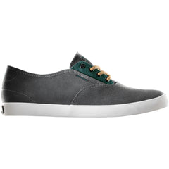 Dekline Daily - Charcoal/Teal Suede/Canvas - Skateboard Shoes