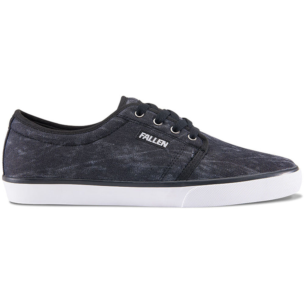 Fallen Forte 2 - Black Chambray/Black - Men's Shoes