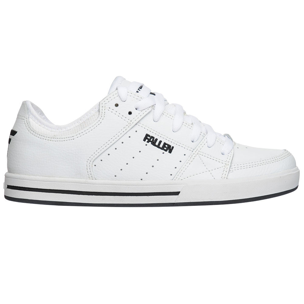 Fallen Chris Cole Trooper SL - White/Black - Men's Skateboard Shoes