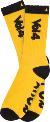 Vol 4 Rock N' Roll - Yellow/Black - Men's Socks (1 Pair)
