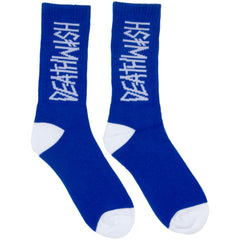 Deathwish Deathspray - Royal/White - Men's Socks (1 Pair)