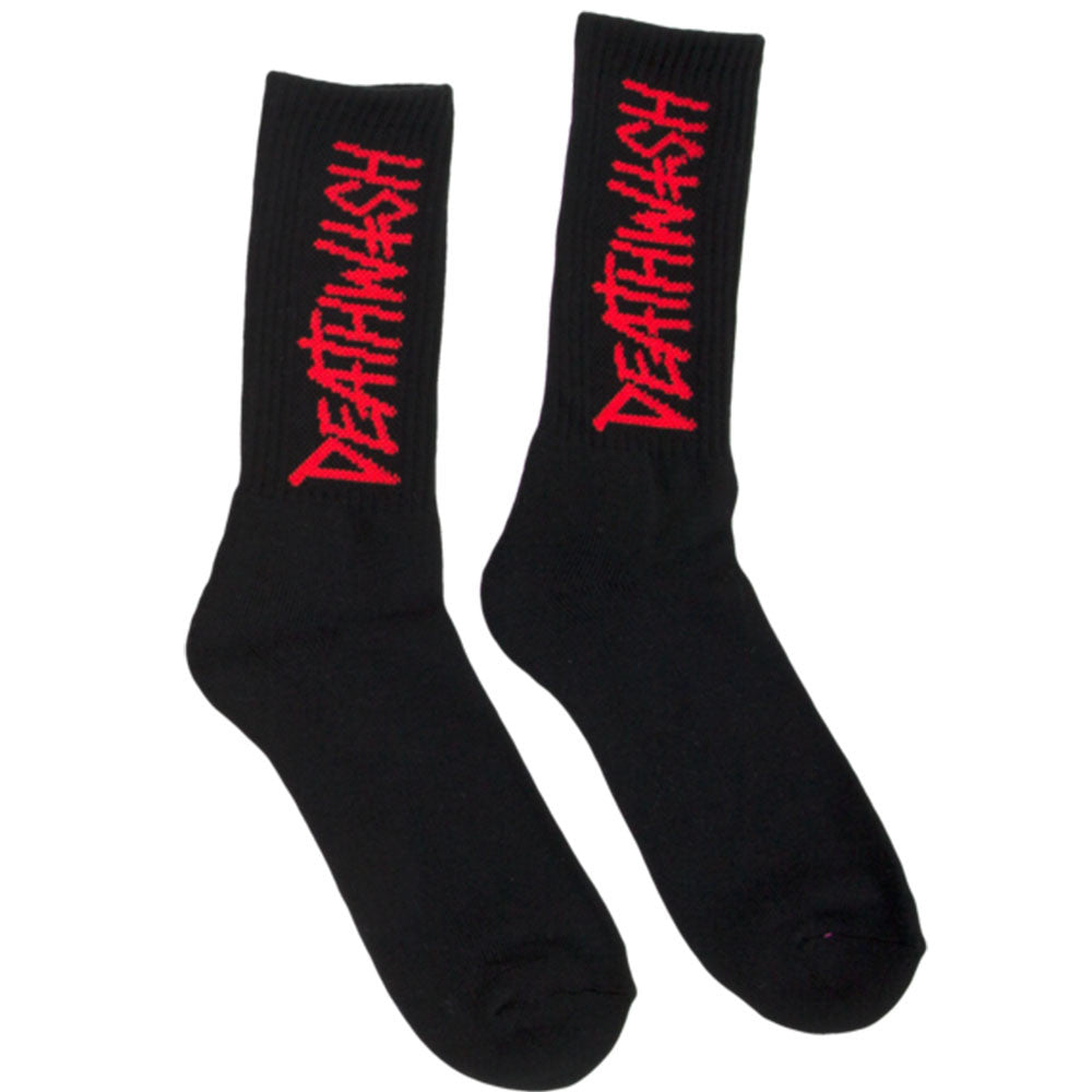 Deathwish Deathspray - Black/Red - Men's Socks (1 Pair)