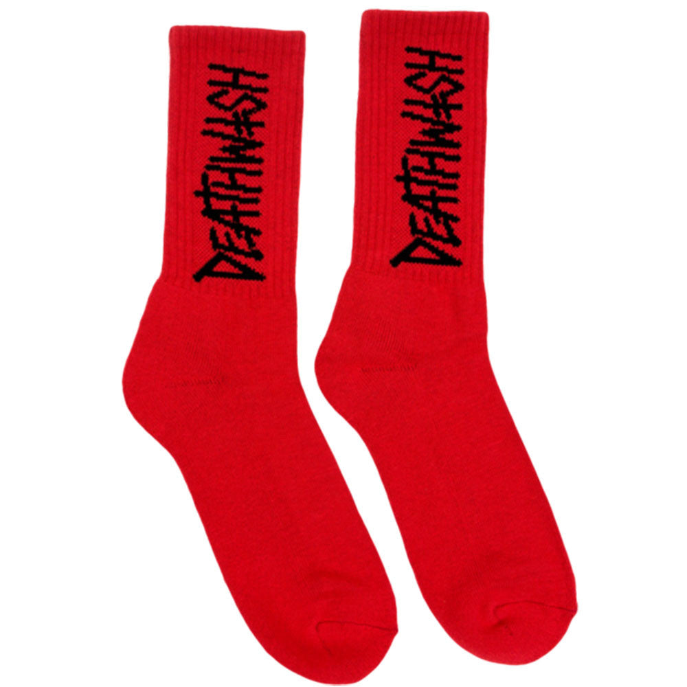 Deathwish Deathspray - Red/Black - Men's Socks (1 Pair)