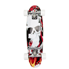 LAX Harly II - Red/White - 8.5in x 32in - Complete Skateboard