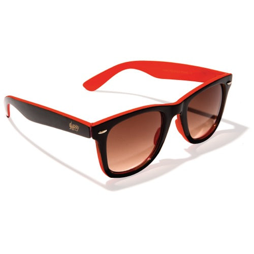 Glassy Leonard - Black/Red/Red Mirror - Sunglasses